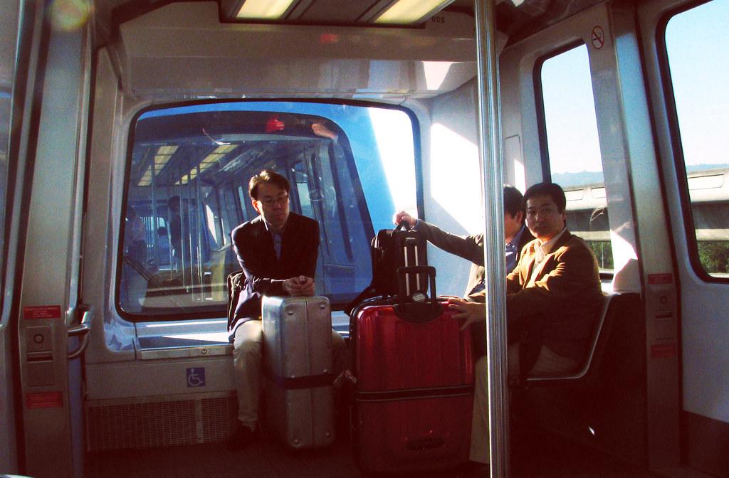 Light rail at SFO