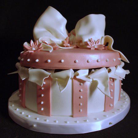Cake Gift Images : Pink & White Round Gift Box Cake -- 89th Birthday Nicole ...