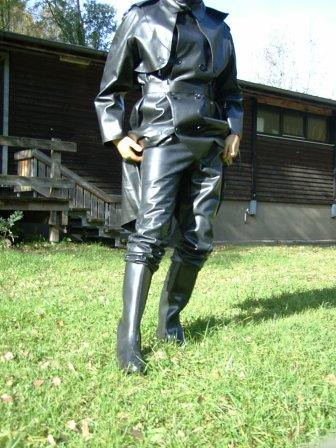 Sbr Mackintosh And Rubberboots Totally Clad In Latex And