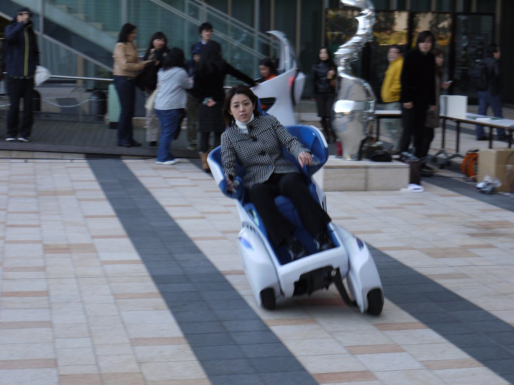 "TOYOTA's ""i-REAL"" personal mobility concept vehicle 
