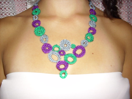 Collar tejido a crochet $3.000 | Flickr - Photo Sharing!