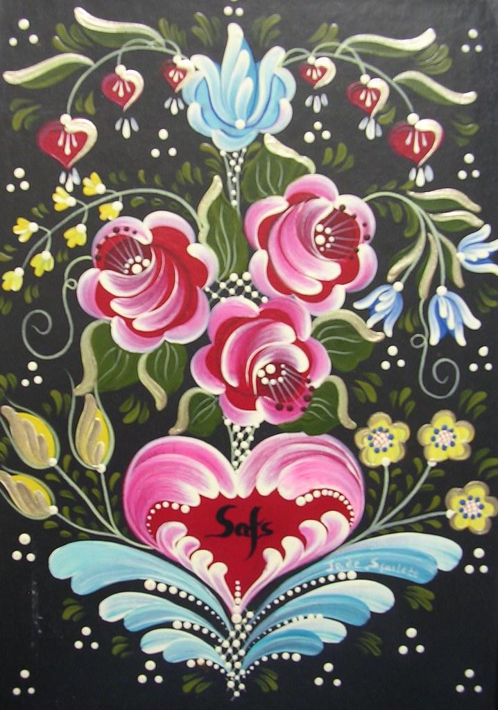 Bauernmalerei photo box jade scarlett flickr - Decorarte pinturas ...