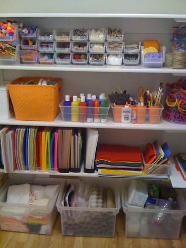 organized:  arts and craft supplies | by gently down the stream