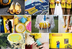 Yellow and Turquoise Wedding | by brides {bliss}