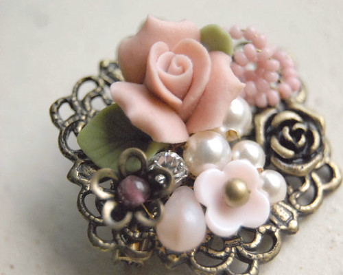 Floral Gala Ii Brooch Exquisite Vintage Inspired Femi