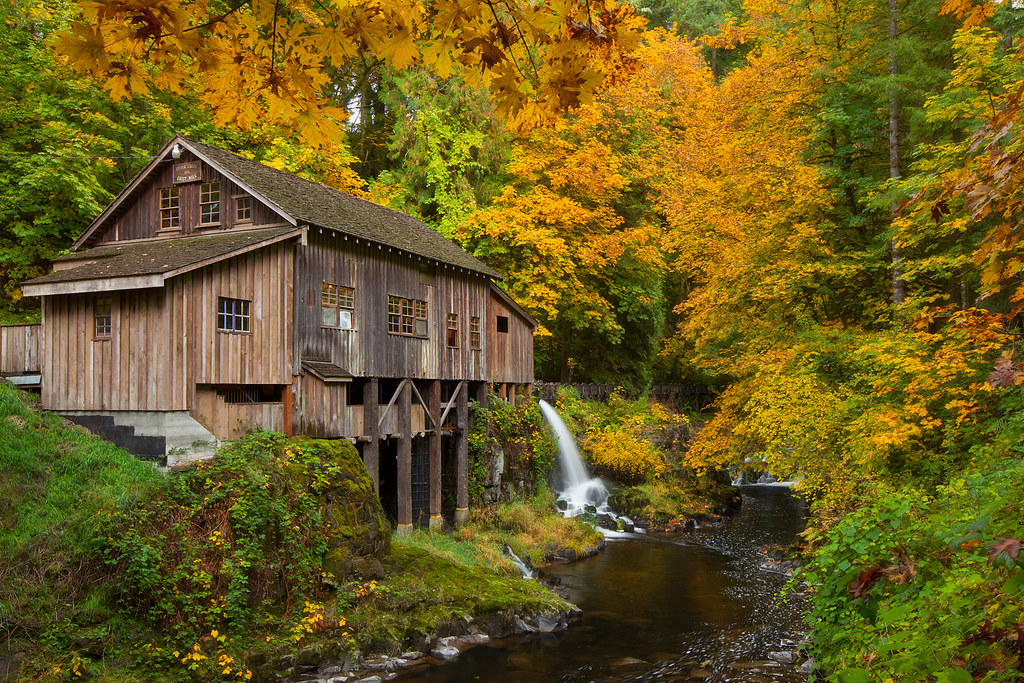 Cedar Creek Grist Mill Pretty Standard Shot Of The Mill