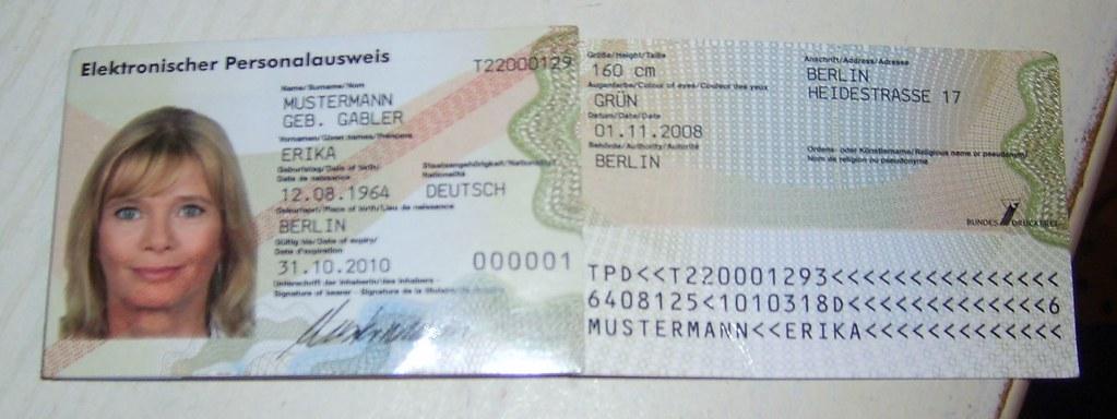 Fingerabdruck Personalausweis