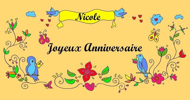 Joyeux Anniversaire Nicole Bessy Oikonomopoulou Flickr