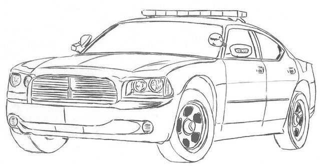 dodge charger pd car drawing