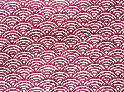 Cute Japanese Cotton Fabric-Wave Patterns-1 Yard  F47 Japanese Wave Pattern