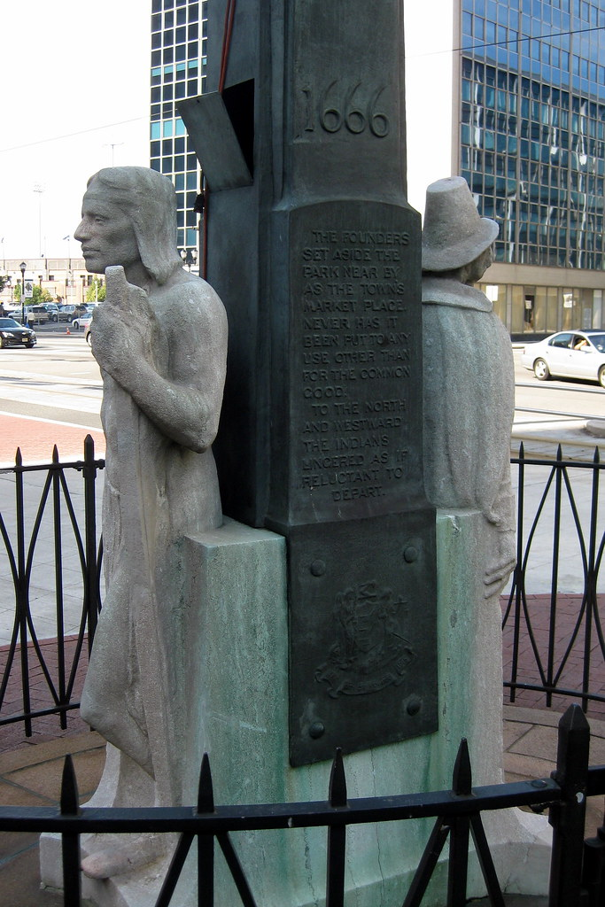 Nj Newark Washington Park The Indian And The Puritan