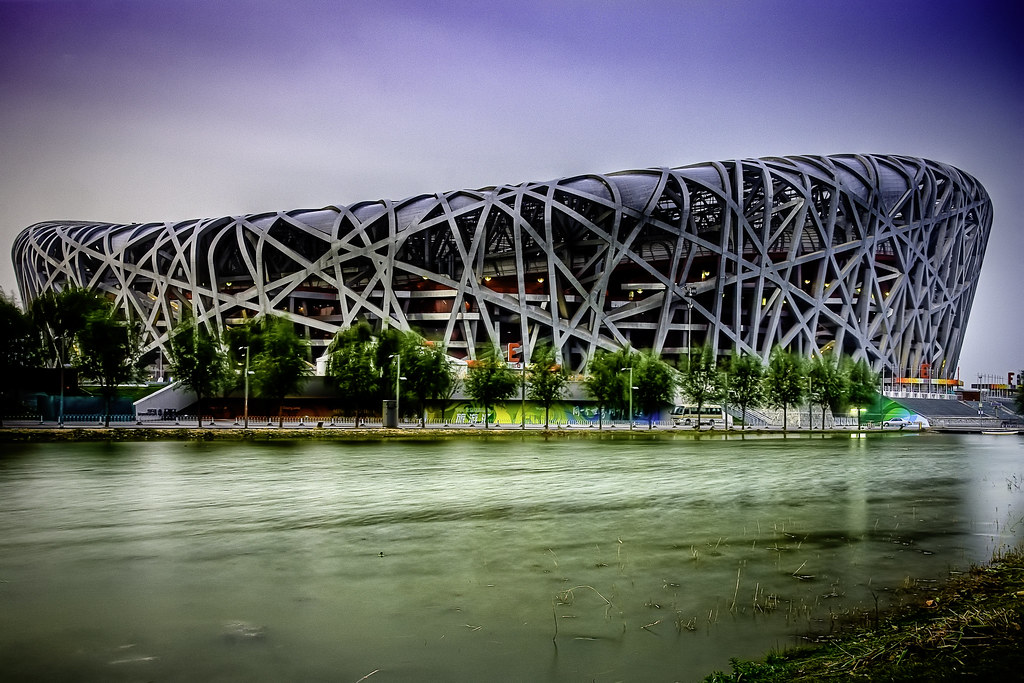 Beijing 39 s national stadium bird 39 s nest picture of for Nest bird stadium