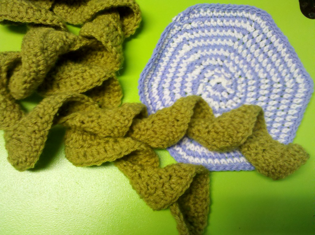 Free Crochet Pattern For Potato Chip Scarf : I LEARNED TO CROCHET!!! I made a potato chip scarf ...
