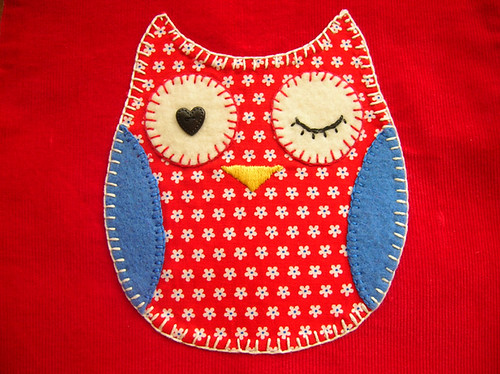 vest: owl detail | by LolaNova