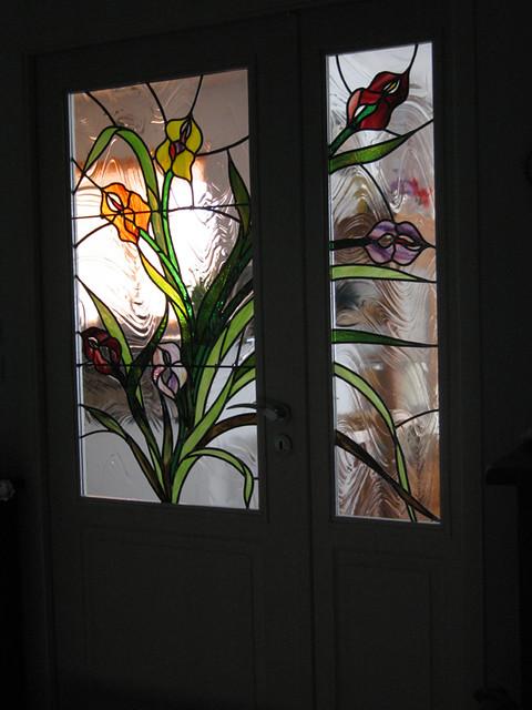 vitrail porte interieure c t couloir vitraux cr ation uni flickr. Black Bedroom Furniture Sets. Home Design Ideas