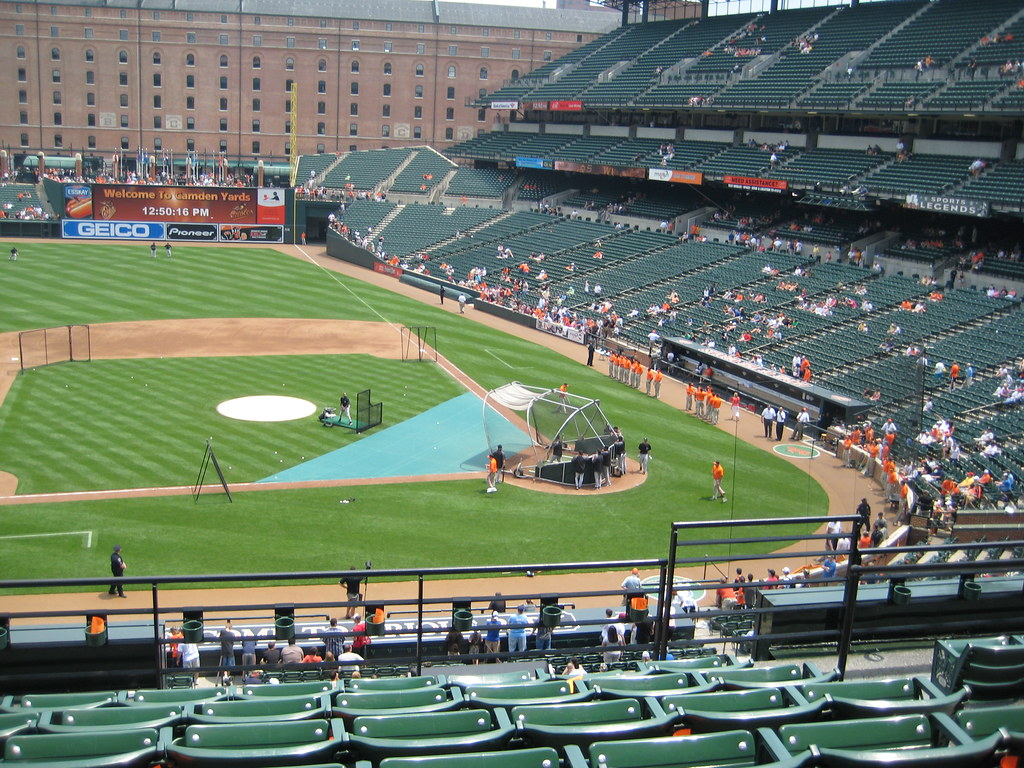 View From My Seat To Home Plate At Oriole Park At Camden Y