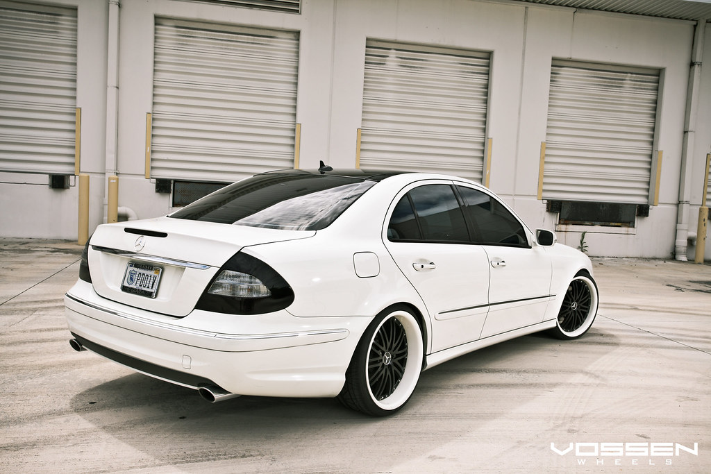 White Mercedes Benz >> Mercedes Benz E-Class with Vossen VVS-082 Wheels | Mercedes … | Flickr