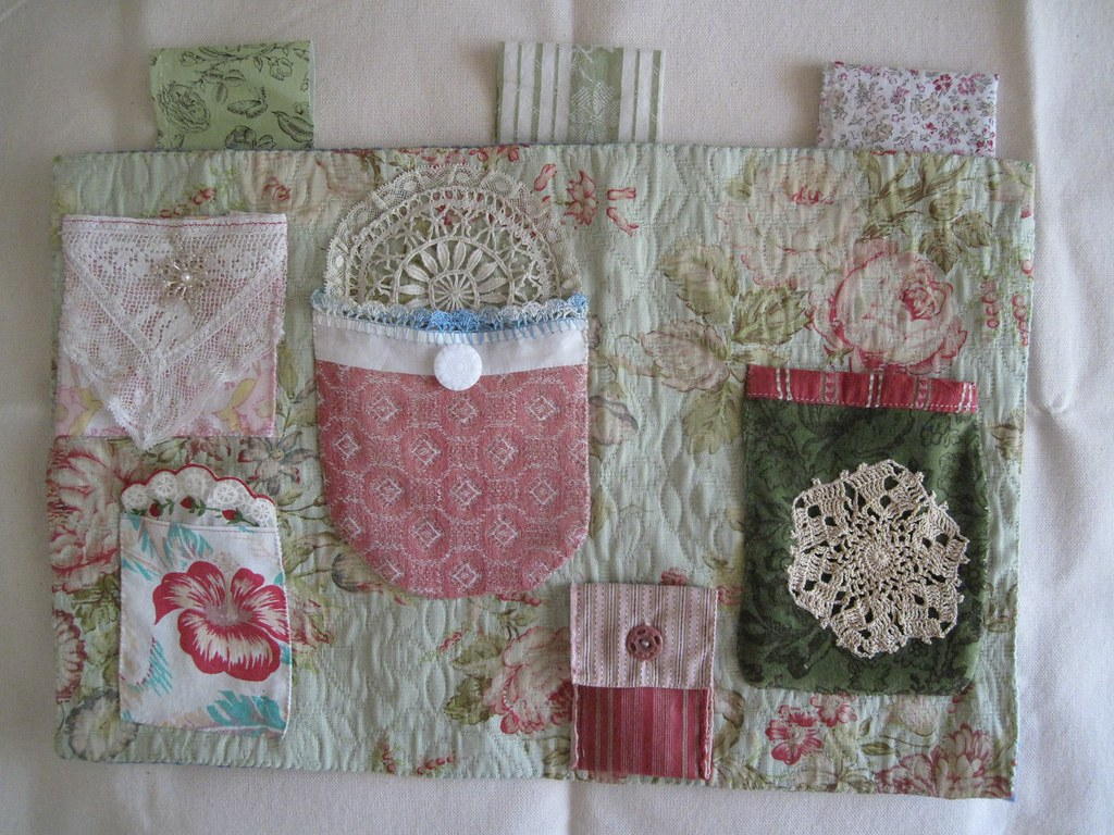 Fabric Organizer With Pockets Wall Hanging Lots Of
