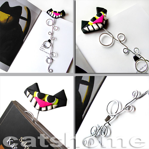 Polymer clay funny cat bookmark by catshome please see my