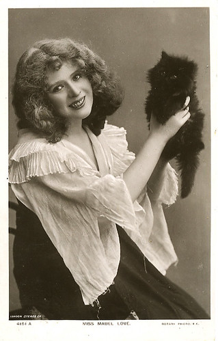 Miss Mabel Love with a fluffy black kitten. | by carbonated