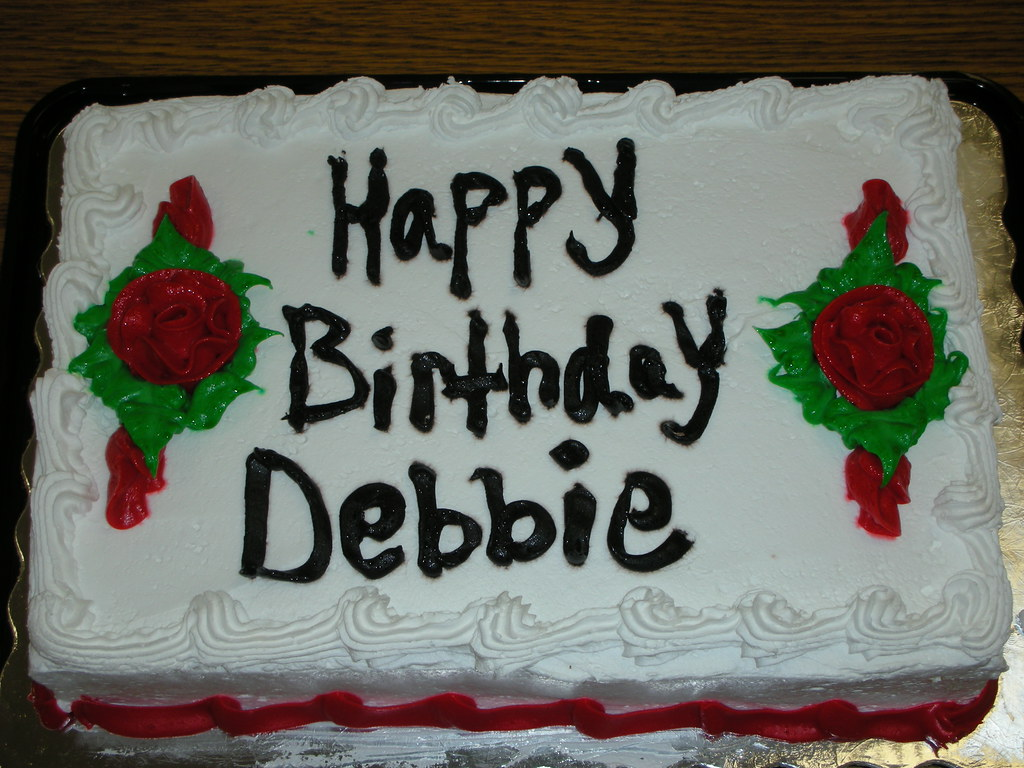 Happy Birthday Debbie Pink Cakekim Cake