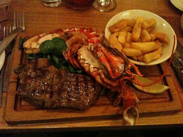 My steak and lobster dinner at Loch Fyne, Woburn | Flickr ...