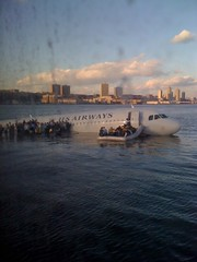 US Airways Flight 1549 Plane Crash Hudson in New York taken by Janis Krums on an iPhone | by davidwatts1978