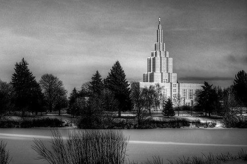 Hdr Black And White Of The Idaho Falls Lds Temple Flickr