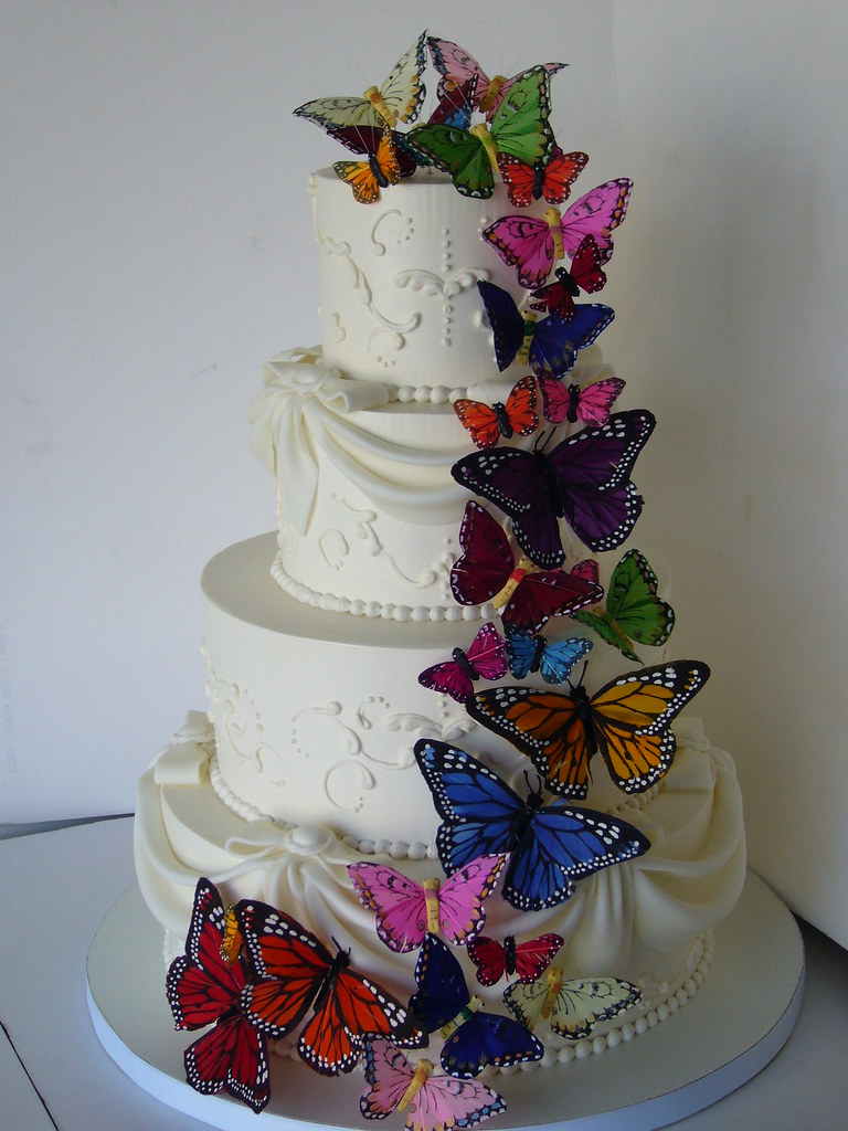 Wedding Cakes Flowers And Butterflies