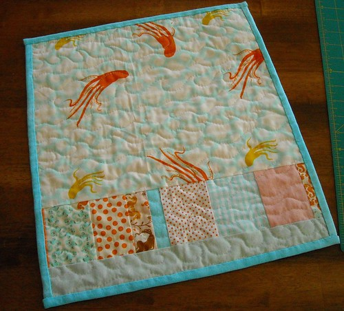 mermaid miniquilt back | by vickivictoria