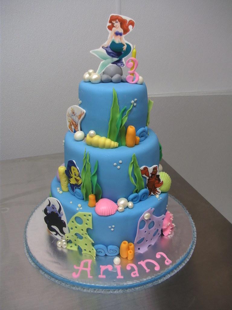 Little Mermaid Cake Clarissa Lopez Flickr