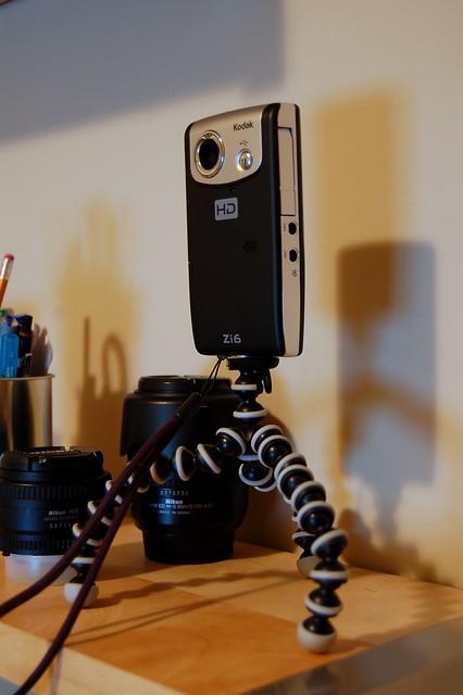 kodak zi6 on gorillapod flickr photo sharing. Black Bedroom Furniture Sets. Home Design Ideas