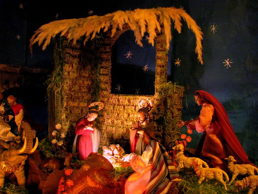 Nacimiento bel n pesebre portal en una casa de la 2a ca - Una casa para navidad ...