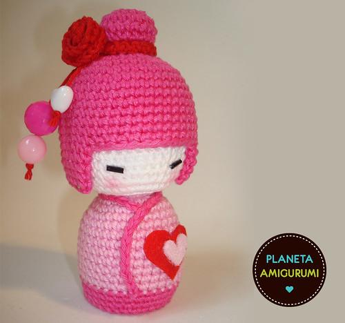Amigurumi Japanese Doll : kokeshi apaixonada Flickr - Photo Sharing!