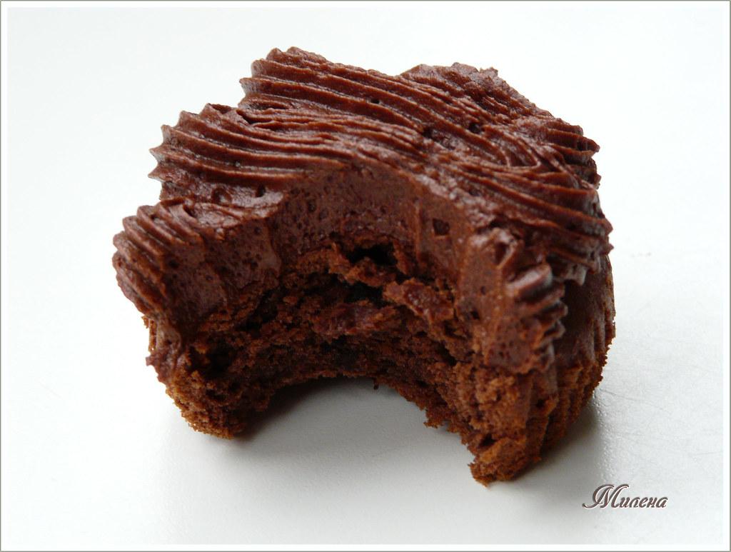 bite Devil's Food cupcake