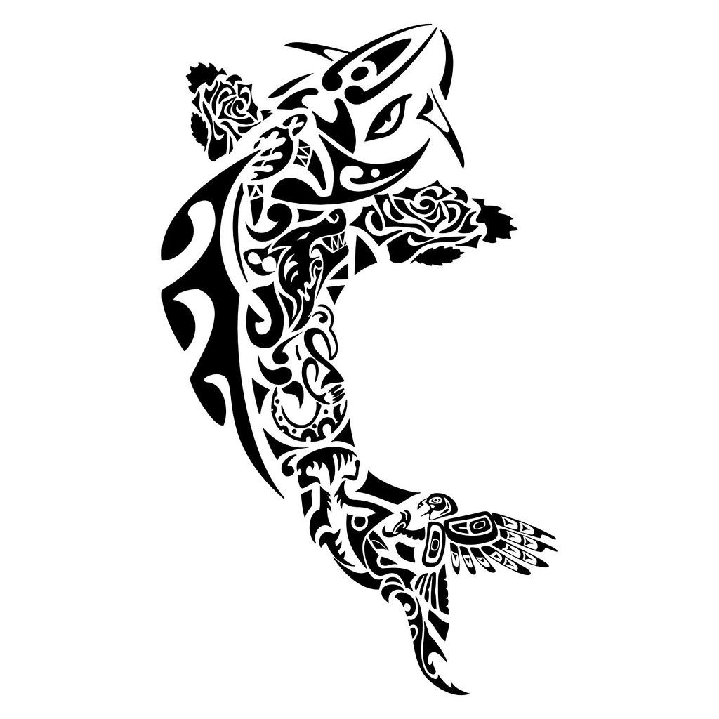 Tattoo Maori Carpa Peixe Kirituhi