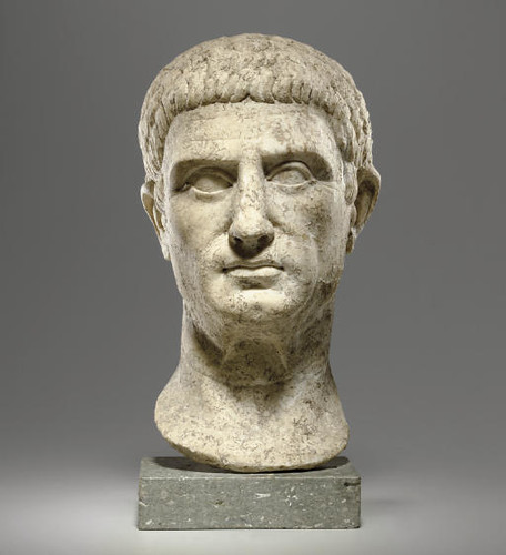 A Roman Marble Portrait Head Of A Man Circa Early 1st Cent