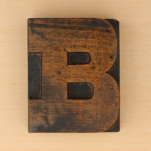 wood type letter B | by Leo Reynolds