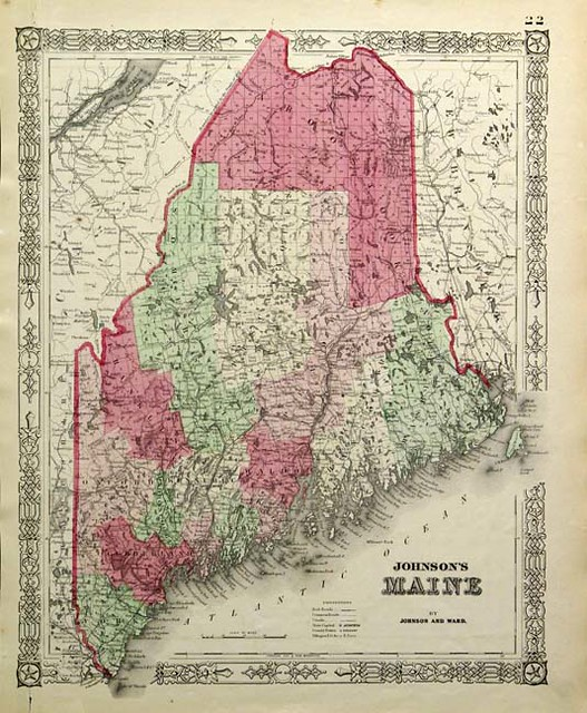 Antique Map Of Maine From Grace Galleries Find Out More On Flickr - Antique map of maine