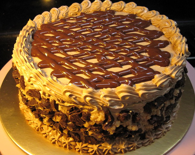Cake With Bits Of Chocolate