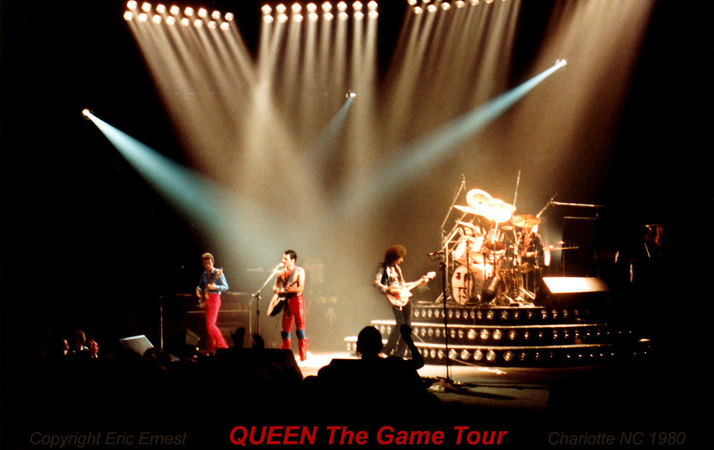 1980 Queen The Game Tour Live Brian May Charlotte North Ca