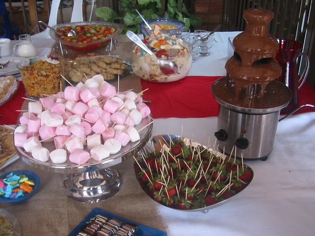 ... chocolate fountain and accompaniments | by cherries and chives-zaheera badat & chocolate fountain and accompaniments | marshmallows and stru2026 | Flickr