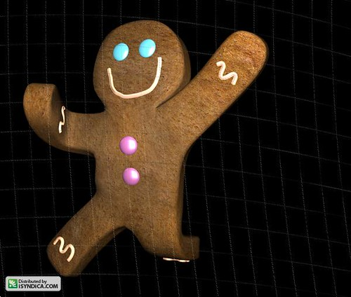 gingerbread man running coloring page download