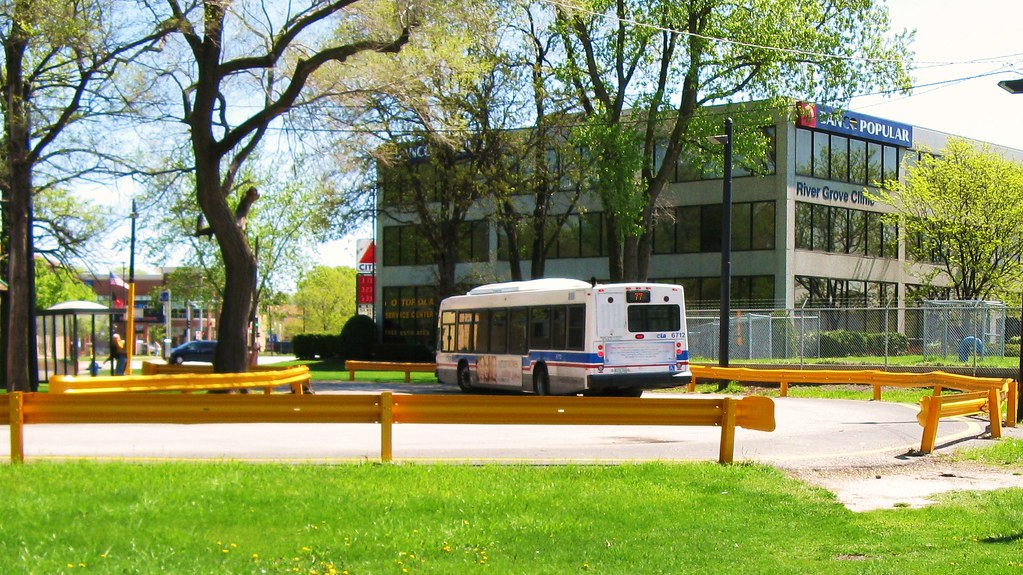Cta Route 77 Belmont Avenue Bus Inside The West Terminal