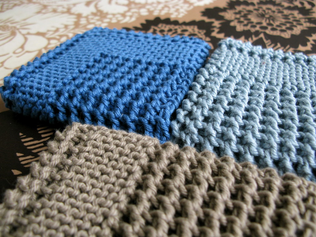 Diagonal Knit Dishcloth Pattern By Jana Trent : Diagonal Knit Dishcloth by Jana Trent Pattern source: eLoo? Flickr