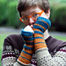 knit gradient mitts