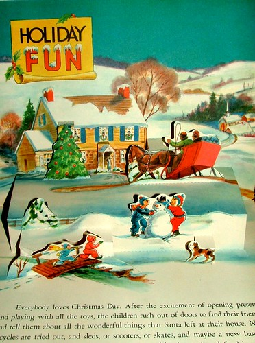 Page From Christmas Time In Action: Vintage Children's Christmas Book | by cwalsh415