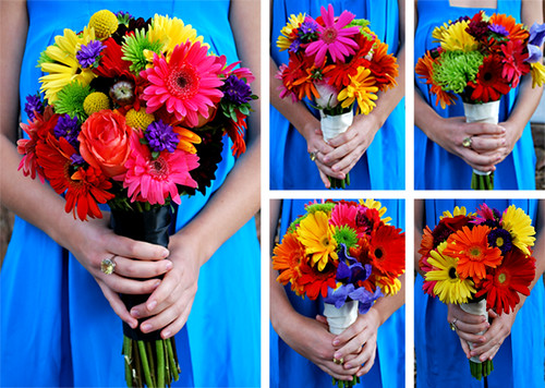 blue bouquet flower wedding