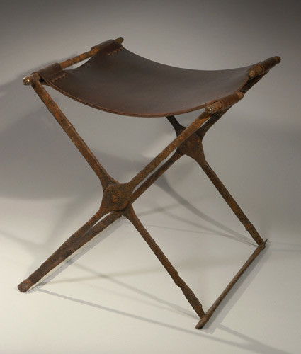 Roman Iron Folding Stool From Art Market Rare Sella Castr