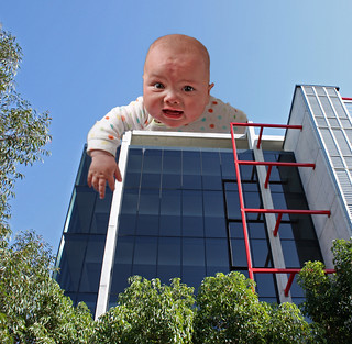 Giant Baby On Building Roof! | by TheGreatContini